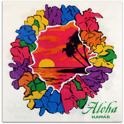 4 Packs Hawaiian Cocktail Beverage Paper Party Napkins Lei