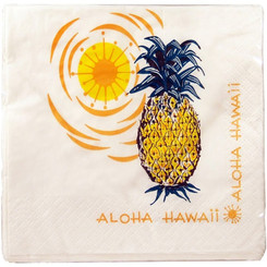 4 Packs Hawaiian Cocktail Beverage Paper Party Napkins Pineapple