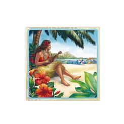 4 Packs Cocktail Beverage Paper Party Napkins Hawaiian Vintage Hula Girl