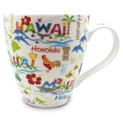 18 oz. U-Shape Coffee Mug 4 Pack Hawaiian Adventures