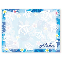 6 Rectangular Stick 'N Notes Honu Turtle Floral Aloha