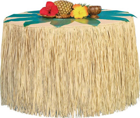 Hawaiian Style Luau Table Cover Skirting