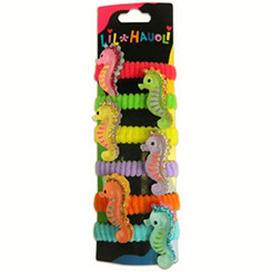 Lil Hauoli Kids Ponytail Elastic Bands Set Of 5 Seahorse