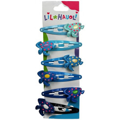 Lil Hauoli Kids Hair Snap Clips Set of 6 Turtle Honu
