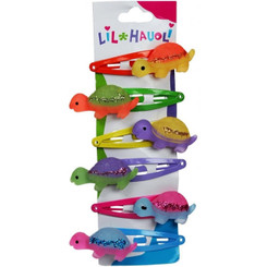 Lil Hauoli Kids Hair Snap Clips Set of 6 Walking Turtle Honu