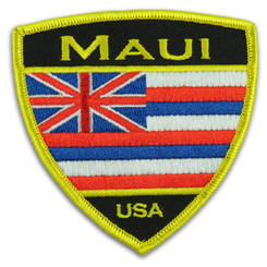 Hawaii Flag Maui Iron-On Embroidery Applique Patch