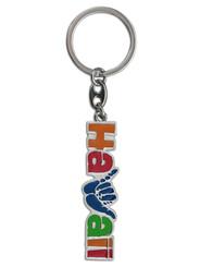 """Shaka Hawaii Key Chain 2.5"""" X 1.125"""""""