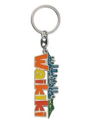 """Hawaii Waikiki Key Chain 2.5"""" X 1.125"""""""