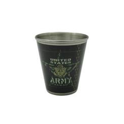 US Army Metal Shot Glass 2 fl. oz.