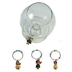 Hula Girl Wine Marker Set Of 4
