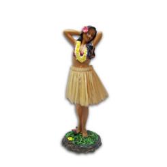 "Leilani Dashboard Hula Doll Flower Placing Pose 7"""