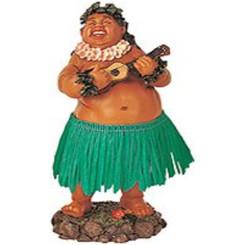 "Leilani Dashboard Hula Doll Local Boy With Ukulele 7"""
