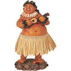 Leilani Dashboard Hula Doll Local Boy with Ukulele 7'