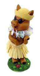 """Hula Pig Mini Dashboard Doll 4"""""""