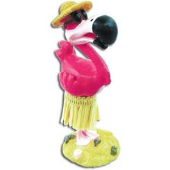 """Hula Flamingo Mini Dashboard Doll 4.3"""""""
