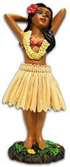 """Hula Girl Posing Mini Dashboard Doll 4.4"""""""