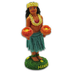 "Hula Girl Kinohe Mini Dashboard Doll 4"" X 2"" X 1.5"""