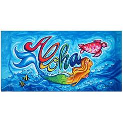 "Hawaii Aloha Beach Towel Island Impressions Mermaid 30"" X 60"""
