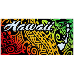 "Hawaii Beach Towel Island Impressions Tribal 30"" X 60"""