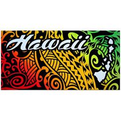 "Hawaii Beach Towel Island Impressions Tribal 30"" X 60"""