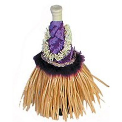 "Purple Hula Skirt Wine Outfit 11"" X 9"""
