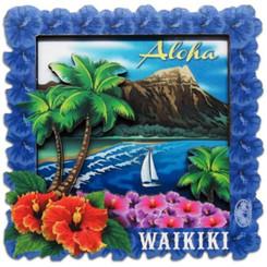 "Waikiki Magnet 2.5"" X 2.5"""