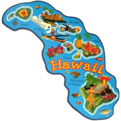 "Hawaiian Islands Magnet 4.25"" X 2"""