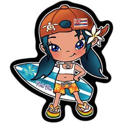 Hawaiian Decal Surfer Girl