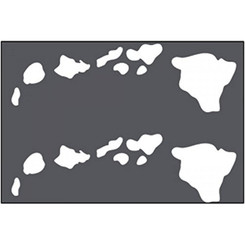 Hawaiian Decal Islands White Sheet Of 2