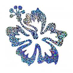 Hawaiian Decal Holographic Hibiscus Pua