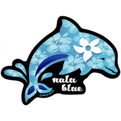 Hawaiian Decal Plumeria Dolphin