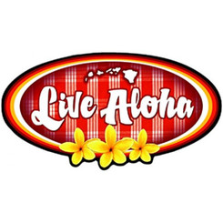 Hawaiian Decal Live Aloha
