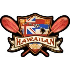 Hawaiian Decal Flag Islands Cross Paddle