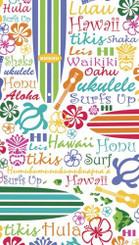 Words of Aloha Deluxe Velour Hawaiian Beach Towel
