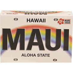 Hawaiian Playing Cards Maui License Plate