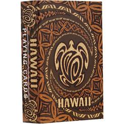 Hawaiian Playing Cards Honu Turtle Pareo Tapa