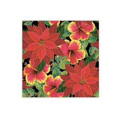 Festive Hibiscus & Poinsettia Design Hawaiian Gift Wrap Paper 2 Rolls