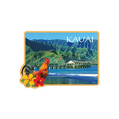 Hanalei Kauai Tin Magnet