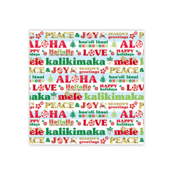 Aloha Season's Greetings Hawaiian Gift Wrap Paper 2 Rolls