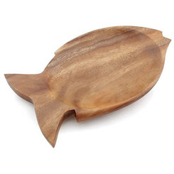 "Acacia Wood 1"" x 7.25"" x 12"" Fish Tray"