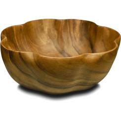 """Acacia Wood 4"""" x 10"""" Flare Bowl"""