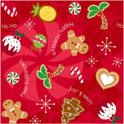 Holiday Delights Hawaiian Christmas Cookies Gift Wrap Paper 2 Rolls