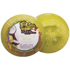 Hawaiian Bubble Shack Loofah Glycerin Soap Coconut Lime Verbena 4 Bars