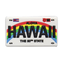 "Hawaii Magnet Rubber License Plate 3""W x 2""H x ""D"