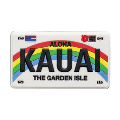 "Hawaii Magnet Rubber Kauai License Plate 3""W x 2""H x ""D"