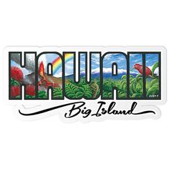 Decal Sticker Big Island Hawaii By Eddy Y