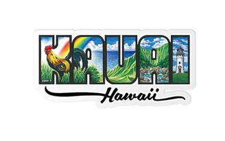 Decal Sticker Kauai Hawaii By Eddy Y