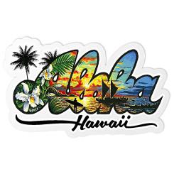 Decal Sticker Aloha Hawaii By Eddy Y