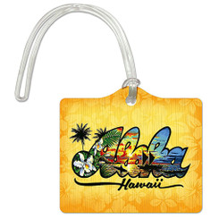 Die Cut ID Luggage Tag Aloha Hawaii By Eddy Y