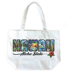 Cotton Totes Hawaii Aloha State By Eddy Y